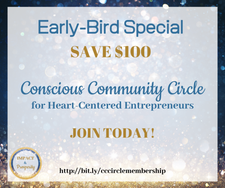 Join the Conscious Community Circle! Learn more here: http://bit.ly/cccirclemembership Early-Bird Sp