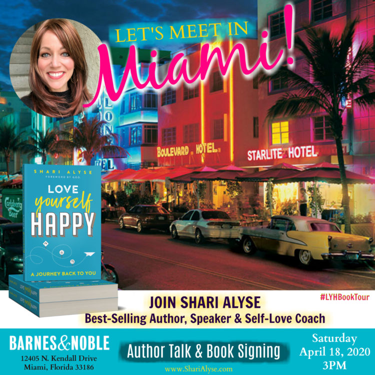 Bestselling book 'Love Yourself Happy' is stopping in Miami, Florida as part of a nation