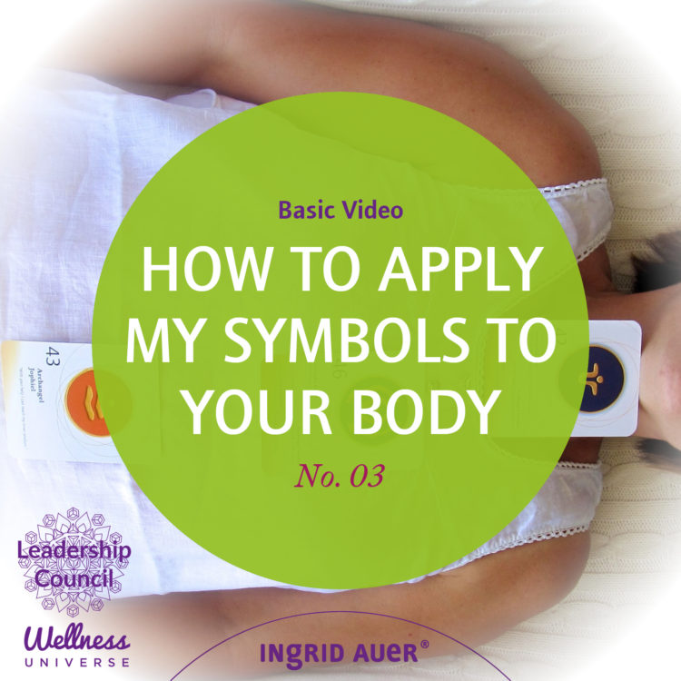 Do you want to know, how to apply my symbols to your body? Click here: http://bit.ly/IngridAuerBasic