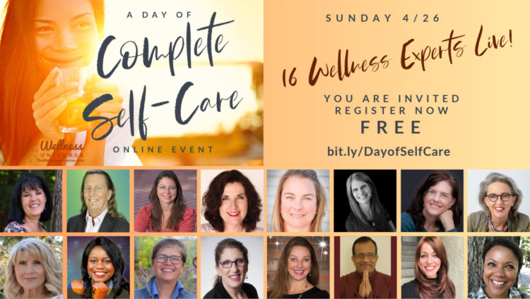 Self-Care Sunday is coming! Join me and 16 WU World-Changers https://bit.ly/DayofSelfCare From the c