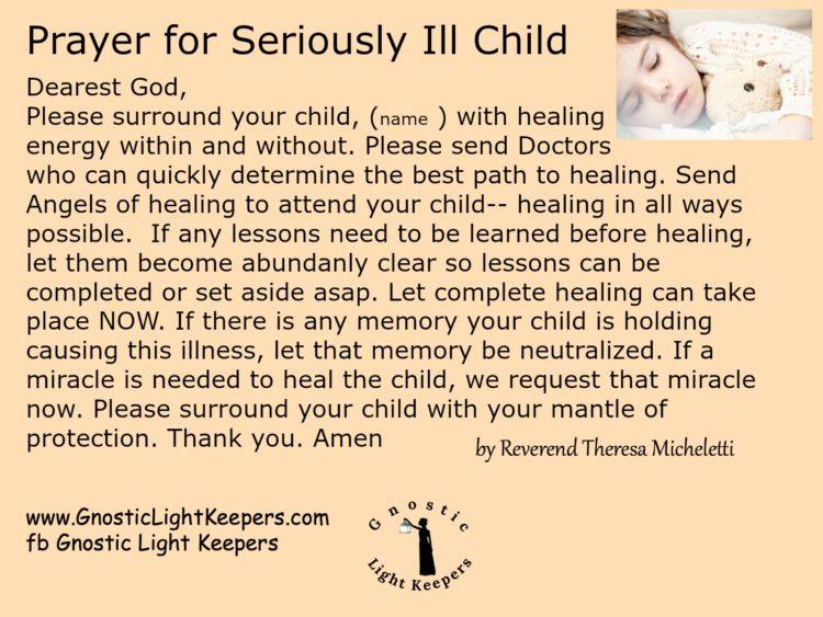 Prayer for ill child (1)
