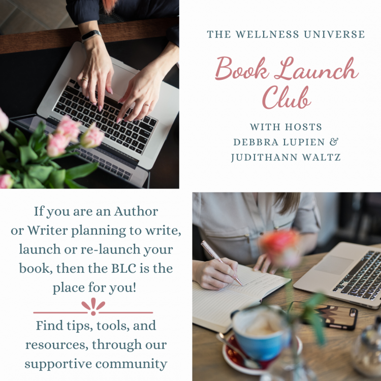 Just listed in The Lounge ~ The Wellness Universe welcomes you to our monthly Book Launch Club webin