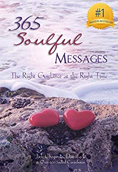 "Here is the image of the cover for the collaborative book ""365 Soulful Messages"" that wa"