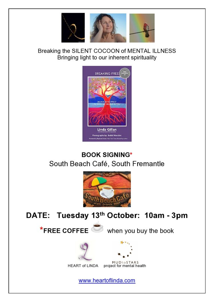 Looking forward to a book signing in my home town, Fremantle, W.A. Australia. 📖 'BREAK