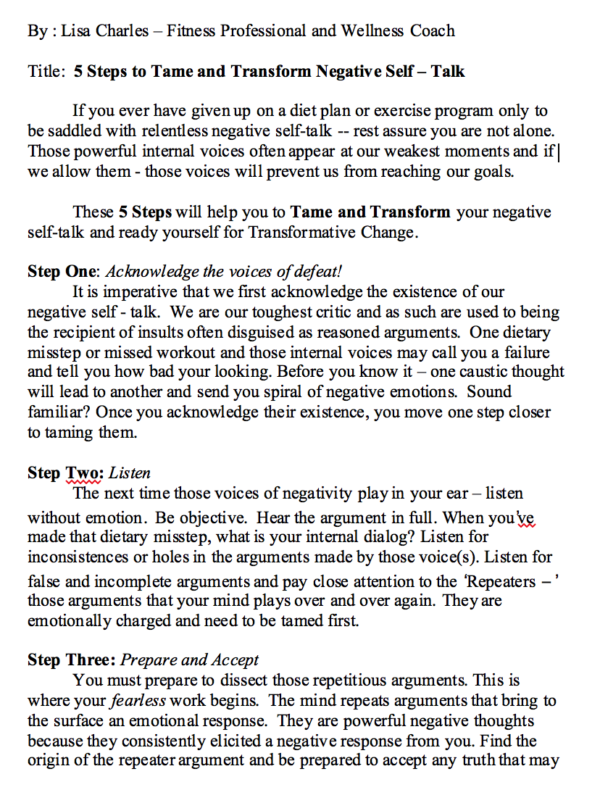 Here are 5 Steps to Tame and Transform Negative Self Talk! Screen Shot 2020-10-22 at 3.19.50 PMScree
