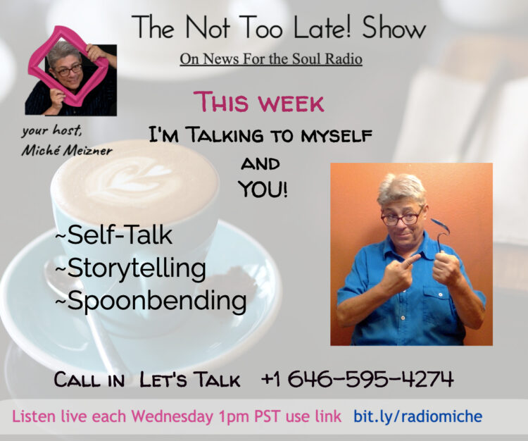 Wednesday Feb 24 1pm PST / 4pm EST Live Radio The Not Too Late Show Most weeks I have a guest on my
