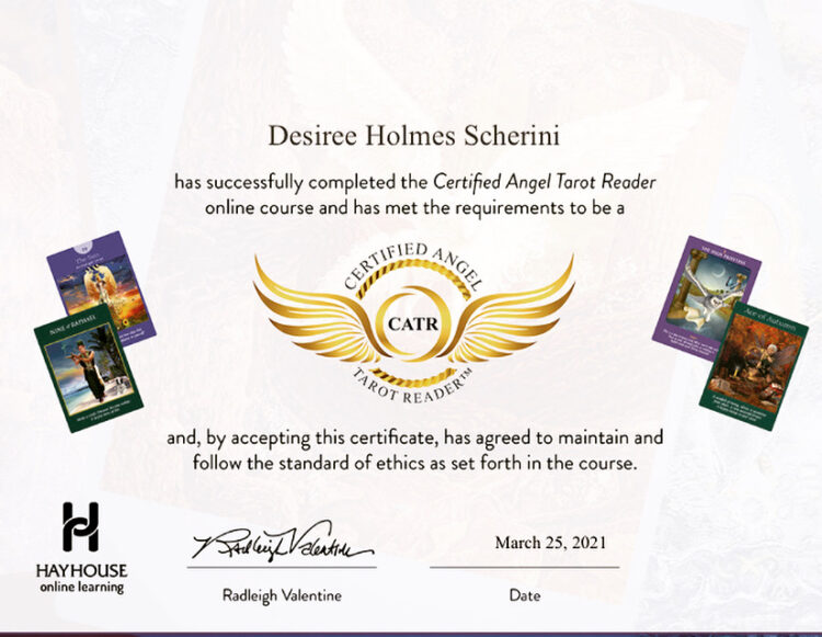 Adding to my Intuitive Tool box! Happy to now be a Certified Angel Tarot Reader! 676D9716-59E0-4B16-
