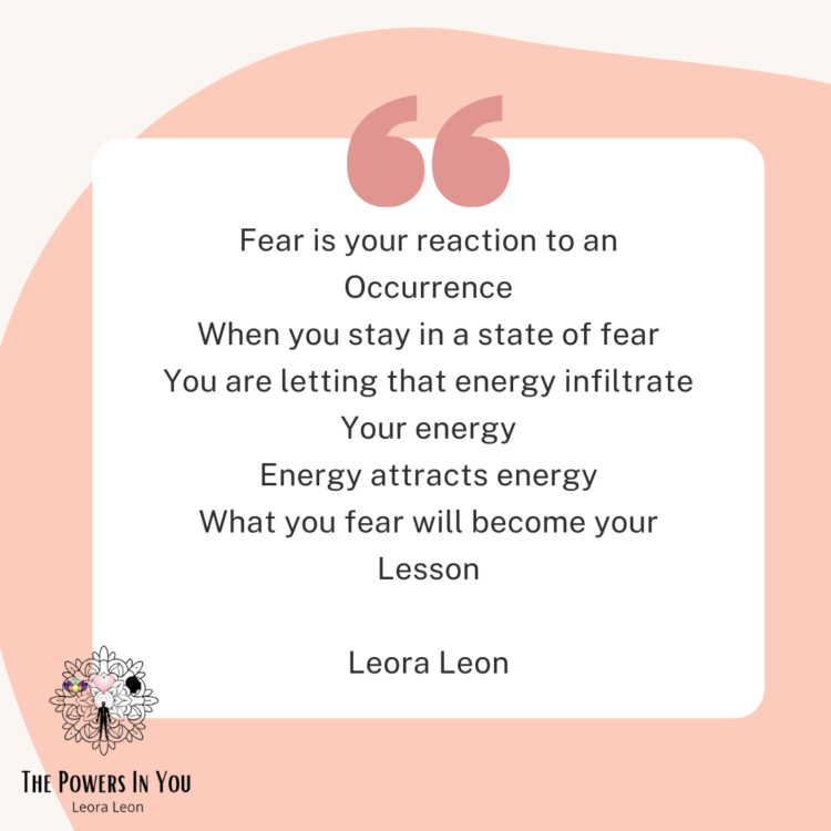 Don'r let fear infiltrate your energy IG Still 5:30