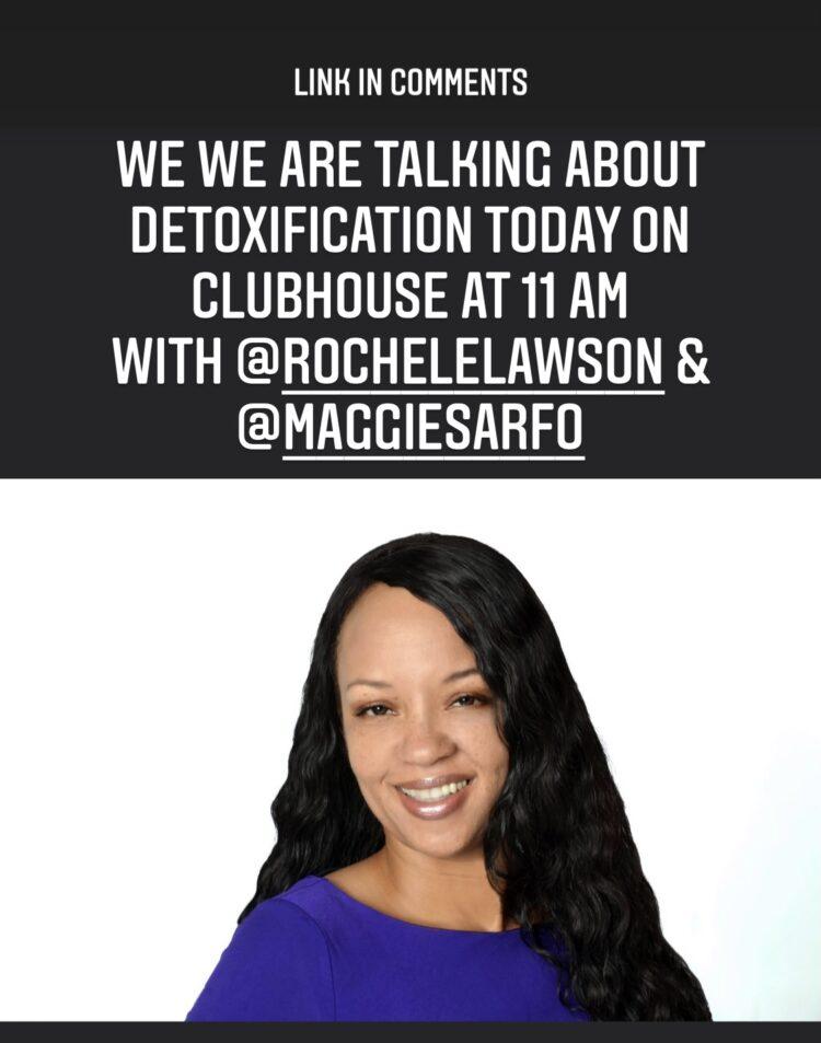 Join me @rochelmarielawson & @maggiesarfo https://www.clubhouse.com/event/MK5nJWXQ 46DCA6BD-F517