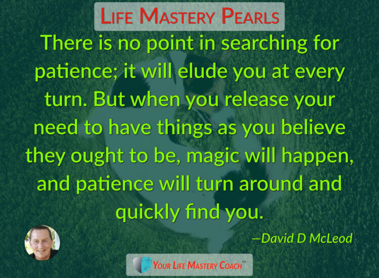 There is no point in searching… https://lifemasterypearls.com/searching-for-patience/ #LifeQuo