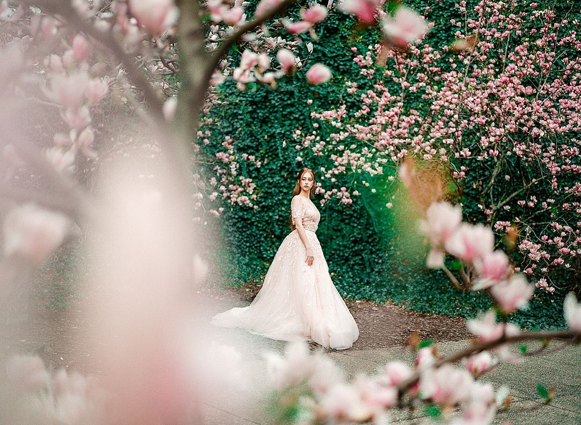 Cherry Blossom Bridal Style