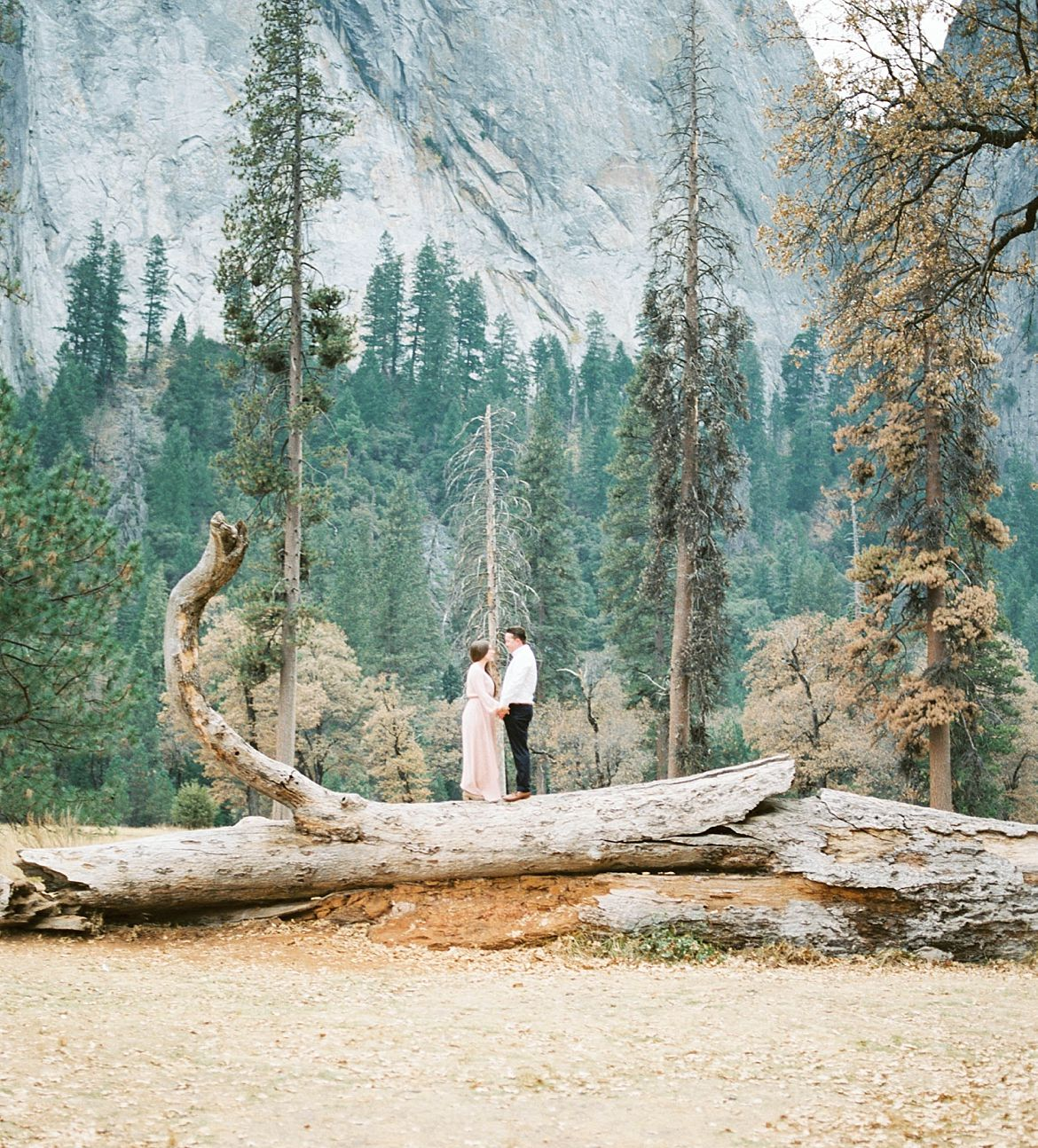 Outdoor Yosemite Engagement Session