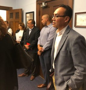 Bautista meeting with with Representative Joaquin Castro