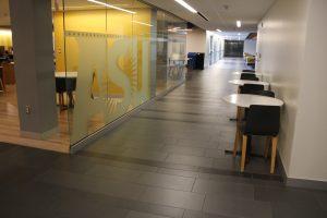 ASU tiled hallway