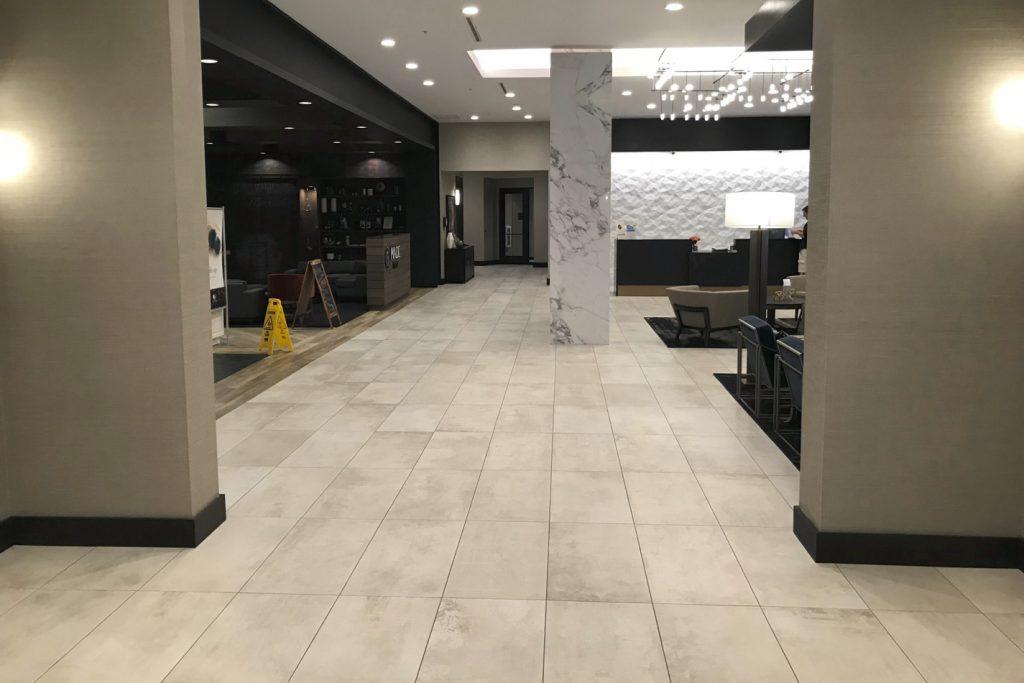 DoubleTree Lafayette East lobby - alt view