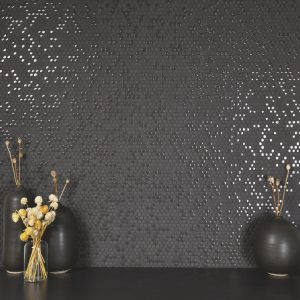 black mosaic tile