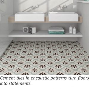 Cement tiles in encaustic patterns turn floors into statements.