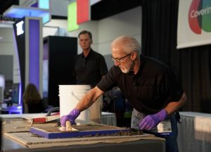 The Coverings Installation Demonstration stage #3138 shows products and methods in action, from the pros.