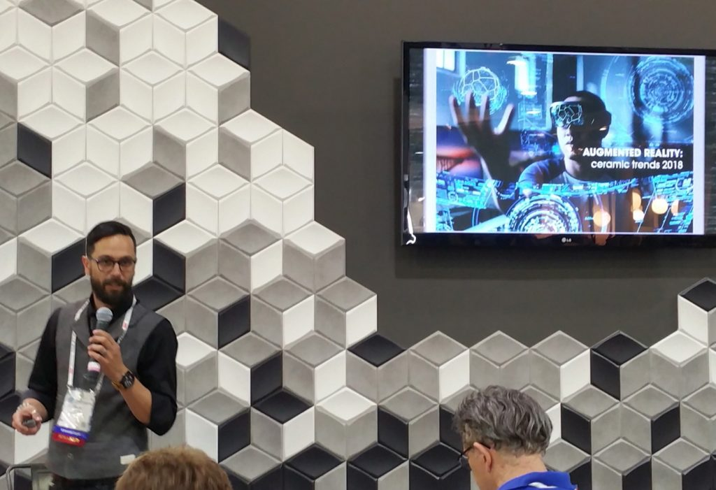 Ryan Fasan will speak about the latest ceramic tile technology and design offerings at Coverings.