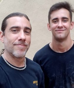 Michael Moreno, Artisan Tile owner (left), with his son, Michael Jr.,