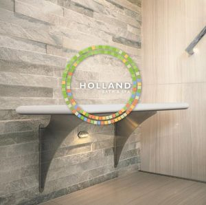 NTCA contractor member Davis Holland Leichsenring has developed a floating, customizable shower bench.