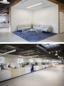 Inside Avalon Flooring's corporate offices.