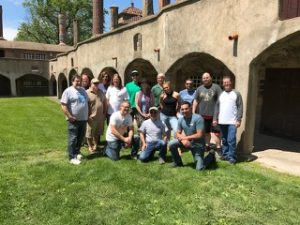 East Coast members of the Tile Geeks Facebook group in front of the Moravian Tile Works