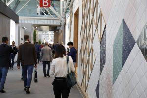 Cersaie tile display