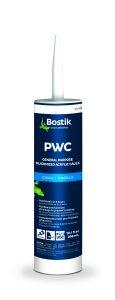 Bostik PWC acrylic caulk.