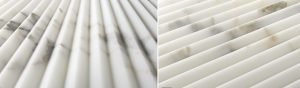 Artistic Tile Pinnacle white fluted tile