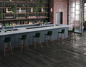 barstools at a bar