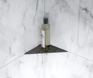 metal shower shelf