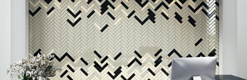 herringbone multicolor tile