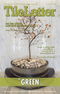 Cover of August 2020 TileLetter Magazine