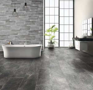 Photo of bathroom with Modtique HDP porcelain tile from Florida Tile