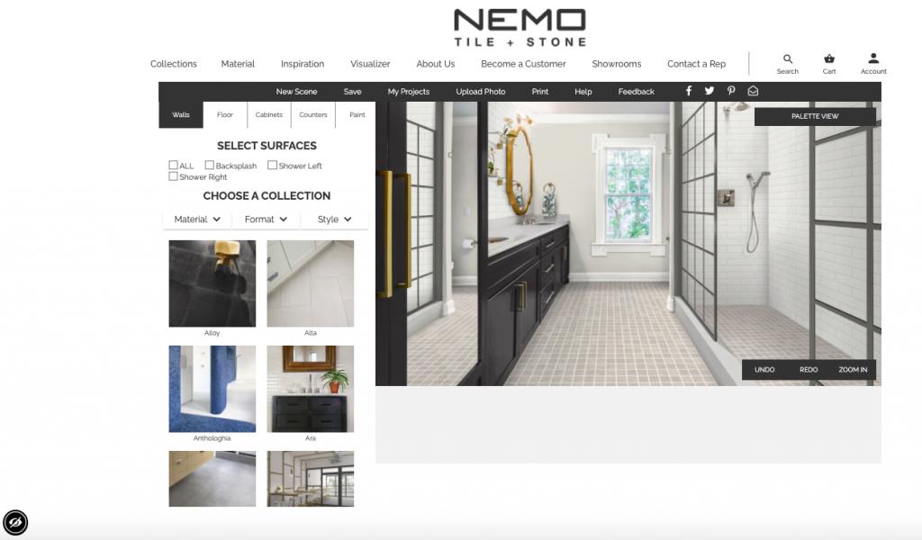 screen shot of Nemo Tile + Stone Visualizer