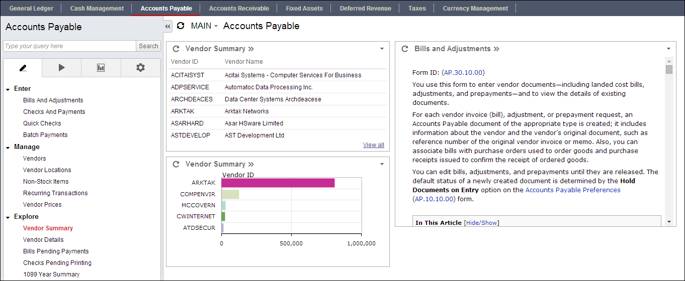 An Acumatica Dashboard In 2 Minutes