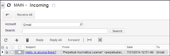 My First Acumatica Email