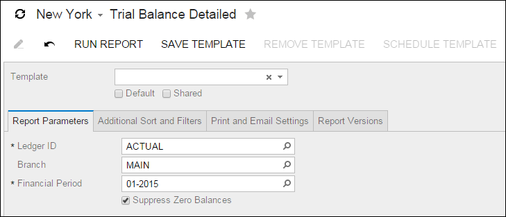 Acumatica Report Review: Trial Balance Detail