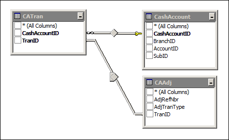Acumatica CA Edit Report Data Access Classes (DAC)