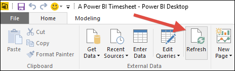 A Power BI Timesheet
