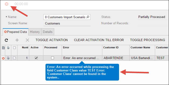 Sample Acumatica Import Scenario (Customers)