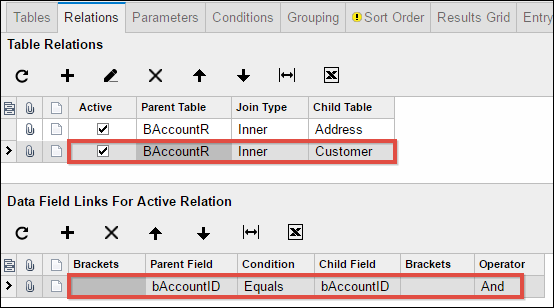 An example of Navigation in Acumatica 6