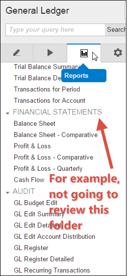 Not Reviewing Financial Statement Reports