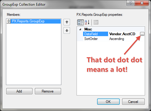 Acumatica 5.0 Report Designer Grouping