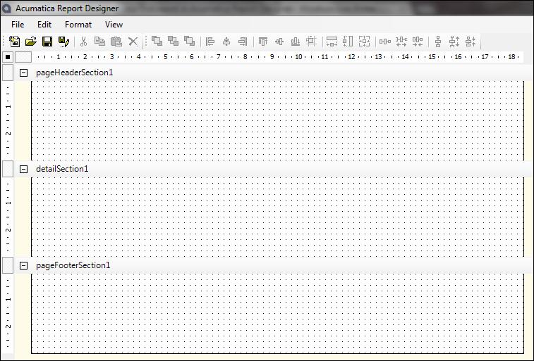 Acumatica Report Designer Blank Slate