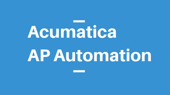 Acumatica AP Automation
