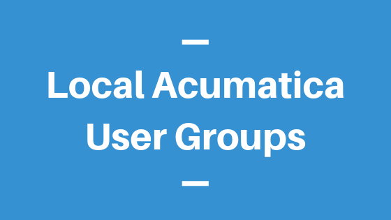 Local Acumatica User Groups