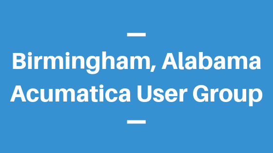 Acumatica User Group in Birmingham, Alabama