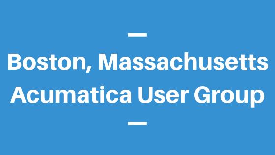 Acumatica User Group in Boston, Massachusetts